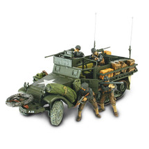 T M3 Half-Track US Army, Normandy, France, D-Day, June 6th 1944, w/4 Figures