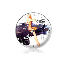 """Memphis Belle Clock"" Pasttime Signs"