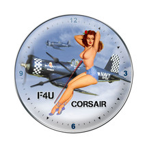"""F-4U Corsair Nude Clock"" Pasttime Signs"