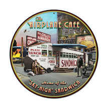 """Airplane Cafe Large"" Pasttime Signs"