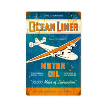 """Ocean Liner Oil"" Pasttime Signs"