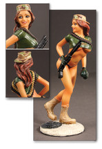 Army Ranger Pin-Up Girl Sculpture - 3rd Battalion Pacific Figures