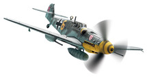 """Bf109 G6 9./JG3 """"Udet"""" Ofw. Alfred Surau, Yellow 6 Bad Worishofen"""