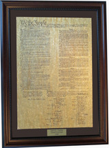 United States Constitution framed (Framed Parchment Constitution)