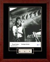 "Charles McGee & P-51 Mustang ""Kitten"" framed photograph"