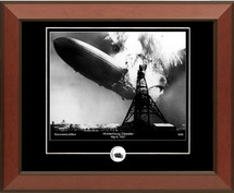 Hindenburg framed photograph (horizontal)