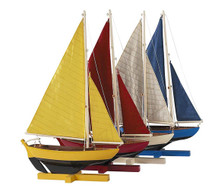 Sunset Sailers, Set Of 4 Authentic Models