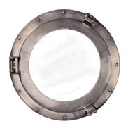 Cabin Porthole Mirror, Medium Authentic Models