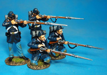 US Marines 1861-65, 2 Figures Loading and Firing Box Set #1
