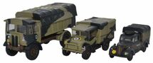 AEC Matador, Bedford MWD, and Austin Tilly ‰ÛÒ British Army, Italy, 1943 (Set of 3)  1:76   Oxford Diecast   OX-76SET25