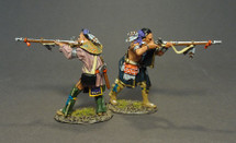 STOCKBRIDGE INDIANS, Woodland Indians Firing Musket (2pcs) - Limited Edition