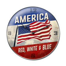"""America Red White Blue"" Pasttime Signs"