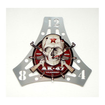 AK-47 Skull Layered Clock Pasttime Signs