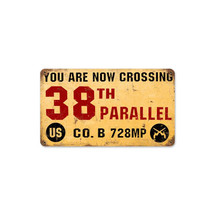 38th Parallel Vintage Metal Sign Pasttime Signs