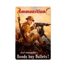 Ammunition Vintage Metal Sign Pasttime Signs