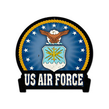 Air Force Round Banner Metal Sign Pasttime Signs