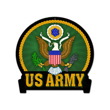 Army Round Banner Metal Sign Pasttime Signs