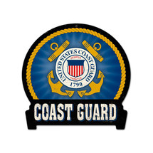 Coast Guard Round Banner Metal Sign Pasttime Signs