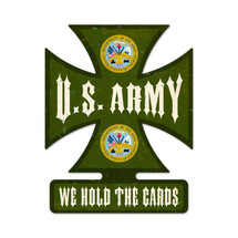 Army Iron Cross Metal Sign Pasttime Signs