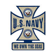Navy Iron Cross Metal Sign Pasttime Signs