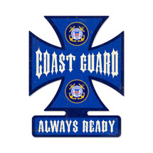 Coast Guard Iron Cross Metal Sign Pasttime Signs