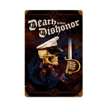 Death Before Dishonor Vintage Metal Sign Pasttime Signs PT-LETH071