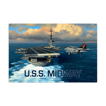 USS Midway Metal Sign Pasttime Signs