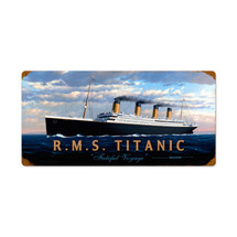 RMS Titanic Vintage Metal Sign Pasttime Signs