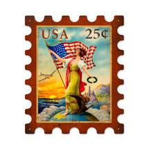 USA Eagle Stamp Metal Sign Pasttime Signs