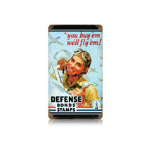 Defense Bond Stamps Vintage Metal Sign Pasttime Signs