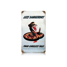 Dangerous Snake Vintage Metal Sign Pasttime Signs