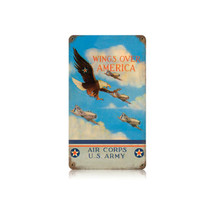 Wings Over America Vintage Metal Sign Pasttime Signs