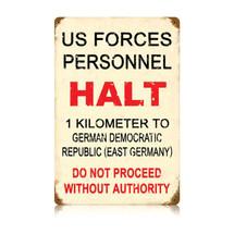 US Forces Halt Vintage Metal Sign Pasttime Signs