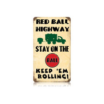 Red Ball Vintage Metal Sign Pasttime Signs