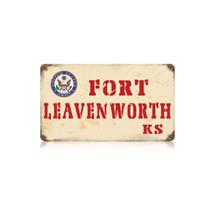 Fort Leavenworth Vintage Metal Sign Pasttime Signs