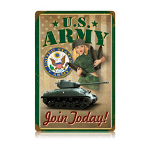 Army Pin Up Vintage Metal Sign Pasttime Signs