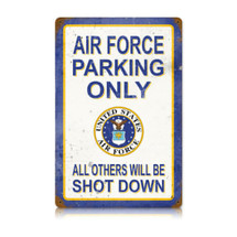 Air Force Parking Vintage Metal Sign Pasttime Signs