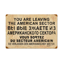 American Sector Vintage Metal Sign Pasttime Signs PT-V926