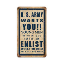 Army Wants You Vintage Metal Sign Pasttime Signs