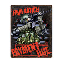 Payment Due Pasttime Signs