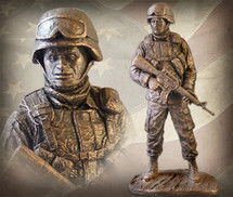 "Sculpted Figures ""American Soldier African American Male"" Garman Sculptures"