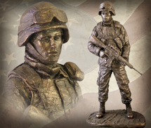 "Sculpted Figures ""American Soldier Female"" Garman Sculptures"