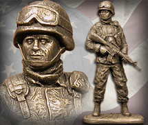 "Sculpted Figures ""American Soldier Male"" Garman Sculptures"