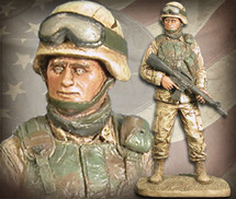 "Sculpted Figures ""American Soldier Male í Handpainted"" Garman Sculptures GAR-G520"