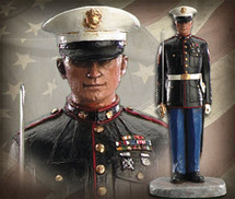 "Sculpted Figures ""Semper Fi - Handpainted"" Garman Sculptures"