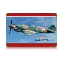 """P-40 Warhawk"" Vintage Metal Sign Pasttime Signs"