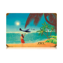 """PBY Catalina"" Vintage Metal Sign Pasttime Signs"