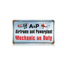 """Airframe Powerplant Color"" Vintage Metal Sign Pasttime Signs"