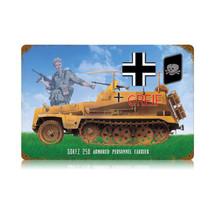 """""""Troop Carrier"""" Vintage Metal Sign Pasttime Signs"""