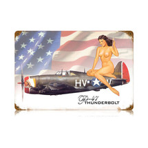 """P-47 Nude"" Vintage Metal Sign Pasttime Signs"